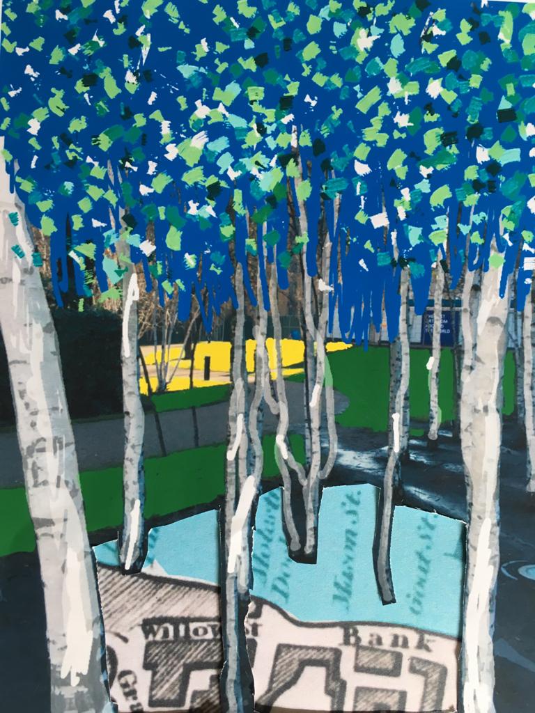 Silver Birches in Tate Modern's gardens