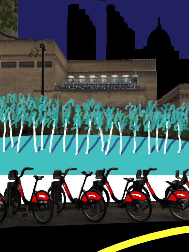 Santander cycles and the new Tate Modern Switch House gardens (2016)