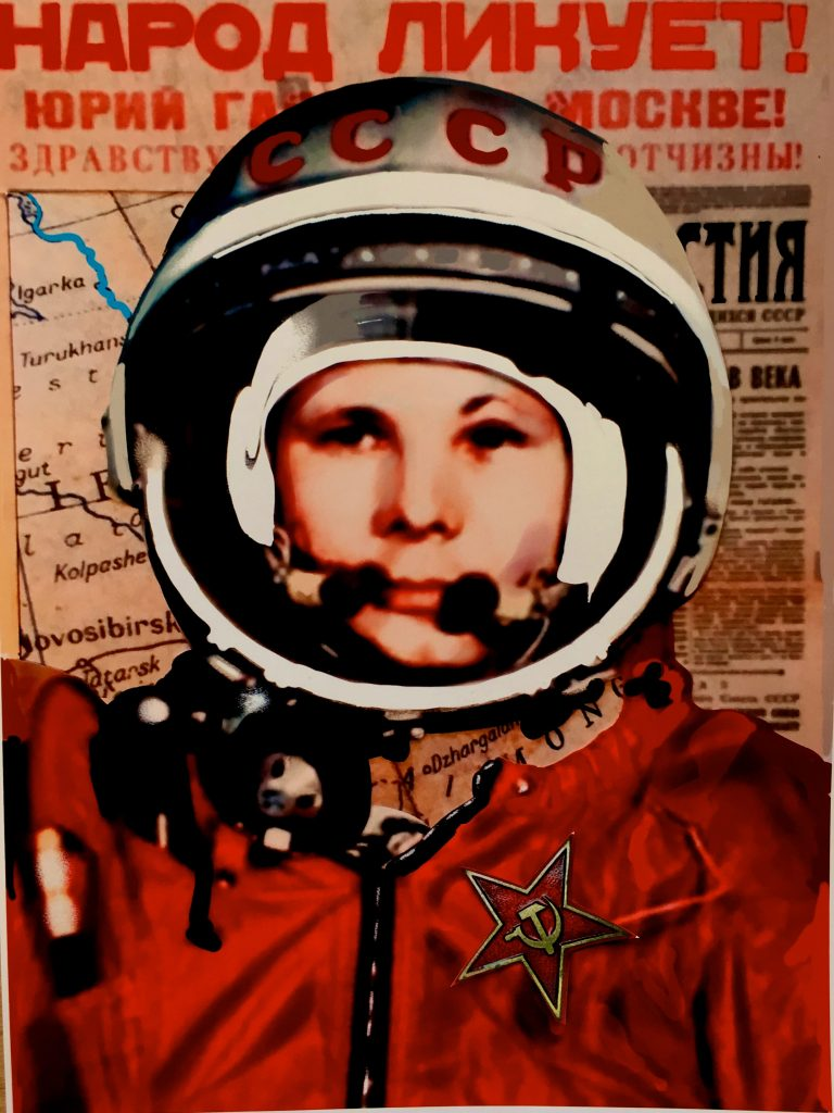 1961: The Soviet Union's Yuri Gagarin becomes the first man in space