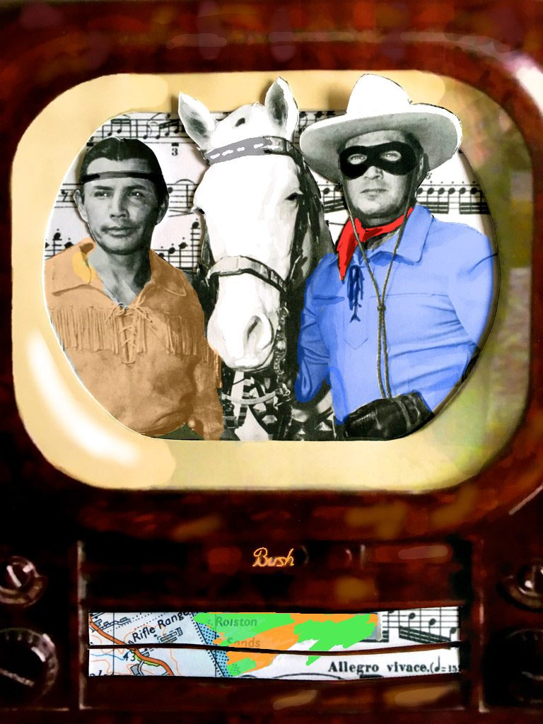 1956: The Lone Ranger, Tonto and Silver – a popular American TV series