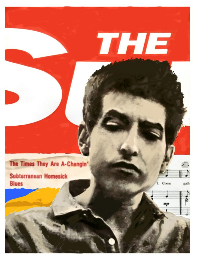 "1964: Bob Dylan's ""The Times they are a changing"" and the Sun newspaper is published"